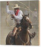 Old Time Ranch Rodeo Wood Print