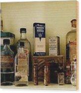 Old-time Remedies Wood Print
