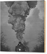 Old Time Steam Locomotive Wood Print