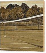 Old Time Tennis Wood Print