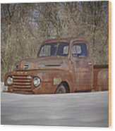Old Timer In Color Wood Print