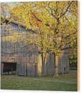 Old Tobacco Barn Wood Print