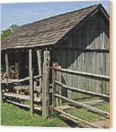 Old Tobacco Shed Wood Print