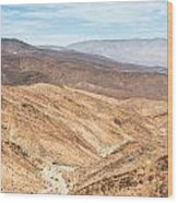 Old Toll Road Landscape In Death Valley Wood Print