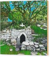 Old Tomb In The Countryside Ireland Wood Print