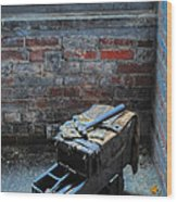 Old Tool Box Lonaconing Silk Mill Wood Print