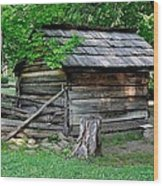 Old Tool Shed Wood Print