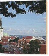 Old Town And Harbor - Tallinn Wood Print