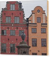Old Town Architecture Wood Print