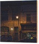 Old Town At Night Wood Print