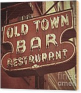 Old Town Bar - New York Wood Print