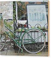 Old Town Bike Stop Wood Print