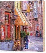 Old Town Bruges Belgium Wood Print