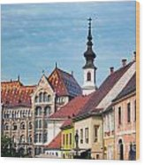 Old Town Buildings In Budapest Wood Print