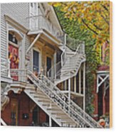 Old Town Chicago Living Wood Print
