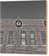 Old Town Christmas Wood Print by Baywest Imaging
