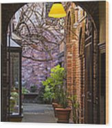 Old Town Courtyard In Victoria British Columbia Wood Print