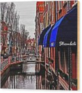 Old Town Delft Wood Print