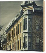 Old Town Fort Collins Wood Print