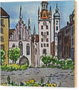 Old Town Hall Munich Germany Wood Print