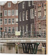 Old Town In Amsterdam Wood Print