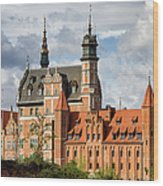 Old Town Of Gdansk In Poland Wood Print