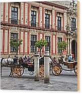 Old Town Of Seville In Spain Wood Print