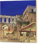 Old Town Of Split At Dusk Croatia Wood Print
