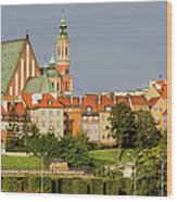 Old Town Of Warsaw Skyline Wood Print