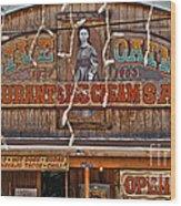 Old Town Saloon Wood Print