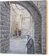 Old Town Street Of Jerusalem Israel Wood Print