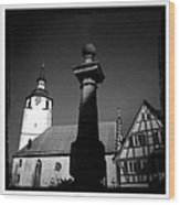 Old town Waldenbuch in Germany Wood Print