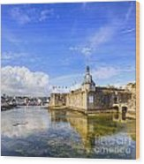 Old Town Walls Concarneau Brittany Wood Print