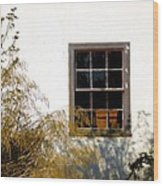 Old Town Window Wood Print