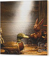 Old Toys In The Attic Wood Print by Olivier Le Queinec