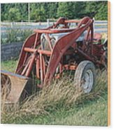 Old Tractor Wood Print by Jennifer Ancker