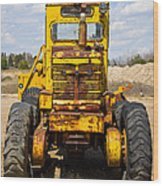 Old Tractor Wood Print