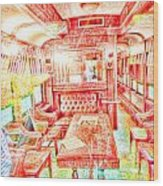Old Train 2 Wood Print