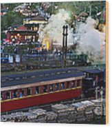 Old Train In The Village - Paranapiacaba Wood Print