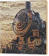 Old Train Still In Light Wood Print