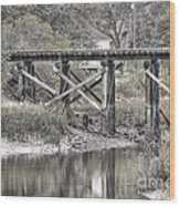 Old Train Trestle Wood Print
