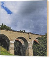 Old Train Viaduct In Poland Wood Print