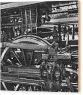 Old Train Wheel Wood Print
