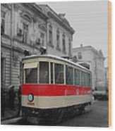 Old Tram Wood Print