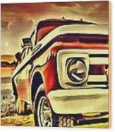 Old Truck Art Wood Print
