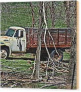 Old Truck At Rest Wood Print