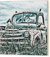 Old Truck - Cool Glaze Wood Print