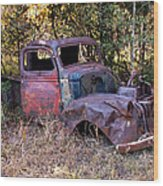 Old Truck - Purtis Creek Wood Print