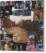 Old Tucson Arizona Composite Of Artists Performing There 1967-2012 Wood Print