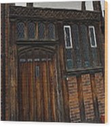 Old Tudor Doorway Wood Print